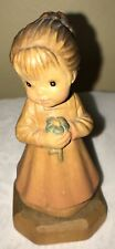 """Anri Sarah Kay """"Just For You� 3.75� Wood Carving Figurine Italy"""