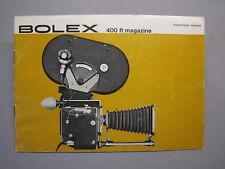 SWISS INSTRUCTION MANUAL BOLEX 400FT MAGAZINE for REX-5 MOVIE CAMERA