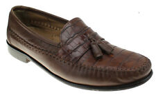 Florsheim Mens Congac Brown Leather Loafers Slip Ons Size 11 Tassels