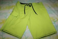 Quicksilver Neon Yellow Men's Board Surf Shorts Swimming Trunks Size 30