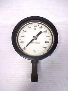 "Ashcroft Test Gauge 0-10000 Alcoa G4 AMC 4296 4"" Diameter Face Steampunk"