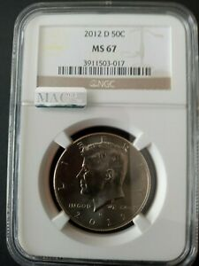 2012-D Kennedy Half Dollar 50c NGC MS-67