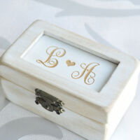 Custom Wedding Ring Bearer Box Wedding Gift Vintage Ring Box Rustic Ring Holder