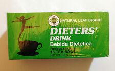 6 Packs DIETERS' DRINK Bebida Dietetica Natural Leaf Brand Weight Loss 108 Bags