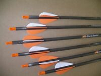 VICTORY ARCHERY 1/2 DOZ CARBON ARROWS 45-60LB/400 FOR PSE/BEAR ARCHERY/MATTHEWS