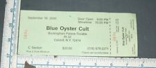 USED CONCERT TICKET BLUE OYSTER CULT CATSKILL NEW YORK 2000