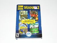 Sim Mania 2 PC Game Brand New Sealed 2003 Golf Coaster Theme Park