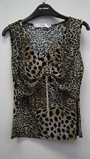 Animal Print Regular Fitted Sleeve Tops & Shirts for Women