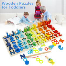 Preschool Learning Kids Educational Montessori Math Toys Games Counting Game Con