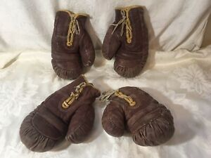 Vintage 2 Pairs Of Rocky Marciano Boxing Gloves