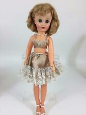"""1950s 18"""" 14R Fashion Doll Revlon Look Alike Modern Taupe Lingerie, Beauty Exc"""