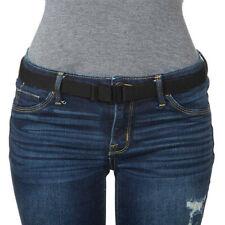 Adjustable Stretch Belt Belt No Show Flat Buckle Non-Slip Backing Casual Belt  C