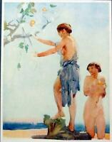 WILLIAM RUSSELL FLINT. The Art of the Illustrator, Portfolio  Six Drawings 1918