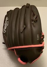 "Rawlings Pink Womens Baseball Glove WFP120 Leather 12"" Left Hand Throw LHT"