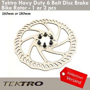 Tektro Haevy Duty 6 Bolzen Disc Bremsscheiben 160/180mm Rennrad CX MTB