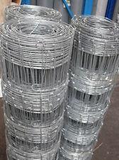 M8/80/15 Stock Fencing Medium 50 meter roll  GALVANISED (just under 3ft) FreeP&P