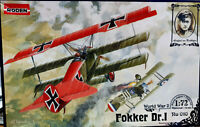 Fokker Dr.1 Triplano Richthofen - Roden Kit 1:72 Ro 010 - Serie World War I