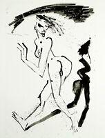 Kunst in der DDR/Nachwendezeit Litho. Helge LEIBERG (*1954 D) handsigniert 10/10