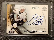 2005-06 SP AUTHENTIC SIDNEY CROSBY SIGN OF THE TIMES SC ROOKIE SIGNATURE AUTO RC