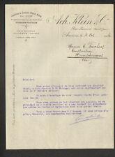 """AMIENS (80) JANTES & GARDE-BOUE en Bois pour CYCLES """"Ach. KLEIN & Cie"""" en 1912"""