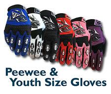 MX Motocross Youth/Peewee Gloves (Age 4 to 12) BMX/ATV/Dirt/Quad Bike/Junior/Kid