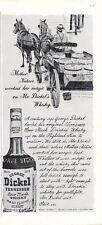 1965 George Dickel Sour Mash Whisky Vintage Bottle PRINT AD