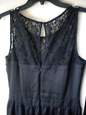 Lauren Conrad  Semi-Flare Black Poly & Lace K-Length Dress. Sz 10
