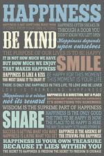 HAPPINESS - INSPIRATIONAL QUOTE POSTER 24x36 - LIST 33848