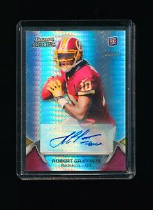 ROBERT GRIFFIN III RG3 2012 BOWMAN STERLING PRISM REFRACTOR AUTO RC /15 REDSKINS