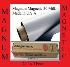 "24"" width x 5Ft ROLL 30 Mil. Blank Magnetic Sign Sheet Cars Magnum FREE SHIPPING"