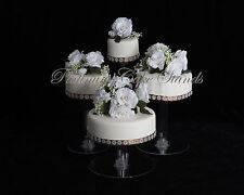 4 TIER CASCADE WEDDING CAKE STAND (STYLE R406)