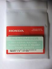 Honda Original Warning Préserver Nature Autocollant Z50 ST70 Monkey Moto Dax