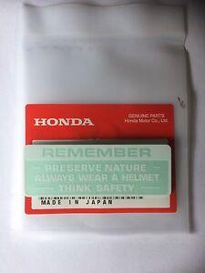 Genuine Honda Warning Preserve Nature Decal Z50 ST70 Monkey Bike Dax Z50m White