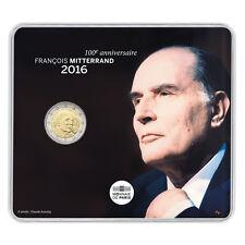 EUR, France, Monnaie de Paris, 2 Euro, François Mitterrand, 2016, FDC #99647