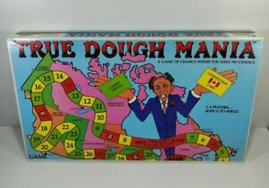 True Dough Mania Board Game Chieftain Games 1982 100% Complete