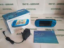 ORIGINALE Blu SONY PSP 3003 Console in scatola completa di scheda di memoria 128GB