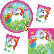 für 8 Kinder Teller Becher Servietten Decken Barbie Dreamtopia Party-Set 37tlg