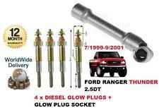 für FORD RANGER 2.5TD Thunder 1999-2001 4x Diesel Glühkerzen + Glühkerze Stecker