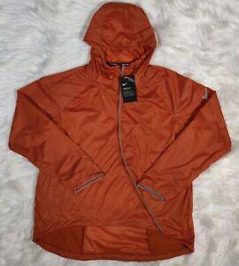 Nike Runway Shield Running Jacket Women's Medium Desert Orange CJ5077 802 New