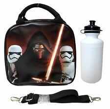 Disney Star Wars Episode VII Kylo Ren Black Box Insulated Lunch Bag Water Bottle