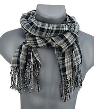 Men's scarf black white grey checked von Ella Jonte new season fashion scarf