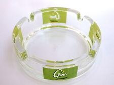 objet bistrot bar Cendrier en verre BOISSON GINI made in france 10 cm vintage