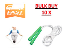 10x SKIPPING ROPES BOXING JUMP ROPE FOR HEART fitness crossfit BULK GREEN 2.4m