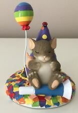 Fitz Floyd Charming Tails Take Time To Dream Mouse Rainbow Figurine Cake Topper