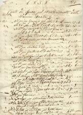 Conto della Marchesa Boccella pel Mantenimento delle Anatre Vaccine Firenze 1838