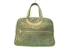 Auth JACQUES LE CORRE Brown Leather Handbag
