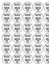 "30 x 1.5"" Your School / Logo Prom PRE-CUT PREMIUM RICE PAPER Edible Cake Toppers"