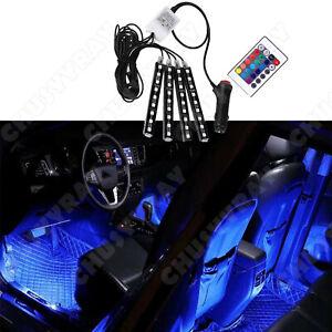 4X 36 LED Car RGB Interior Decor Neon Atmosphere Light Strip Music Control Color