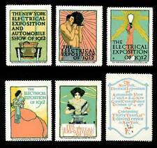 Usa Poster Stamps - 1912 New York Electrical Expo - F. G. Cooper Set of 6