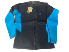 Wet Suit Top Gold Fin Size 3XL  Aqua Blue And black.  New With tags. Free Ship